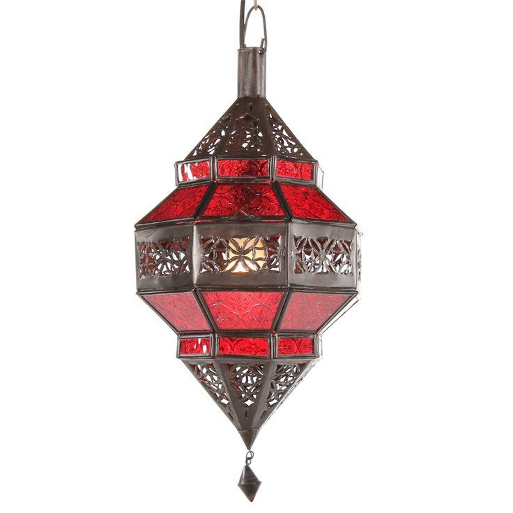 marokkanische lampe trob rot glas. Black Bedroom Furniture Sets. Home Design Ideas