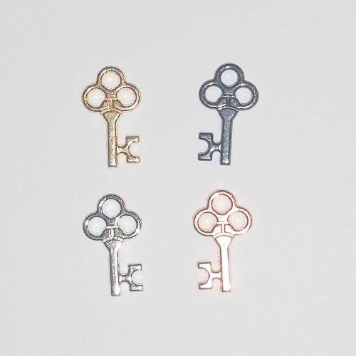 Gold, Rose Gold, Silver and Gumetal Key Bra Motifs
