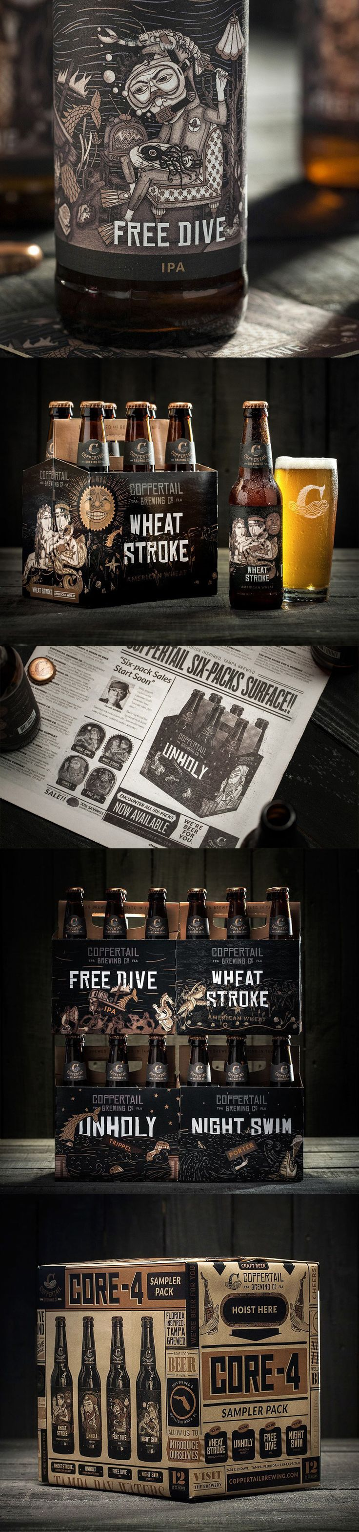 Coppertail Brewing Co. The mysterious sea creature. (More design inspiration at www.aldenchong.com) #branding