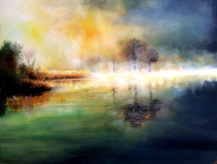 ARTFINDER: Foggy Morning by Kimberley  Harris - SOLD