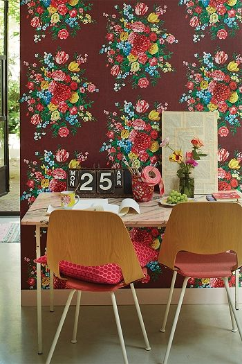 PiP Dutch Painters Burgundy wallpaper | Traditional 3 | Wallpaper | PiP Studio