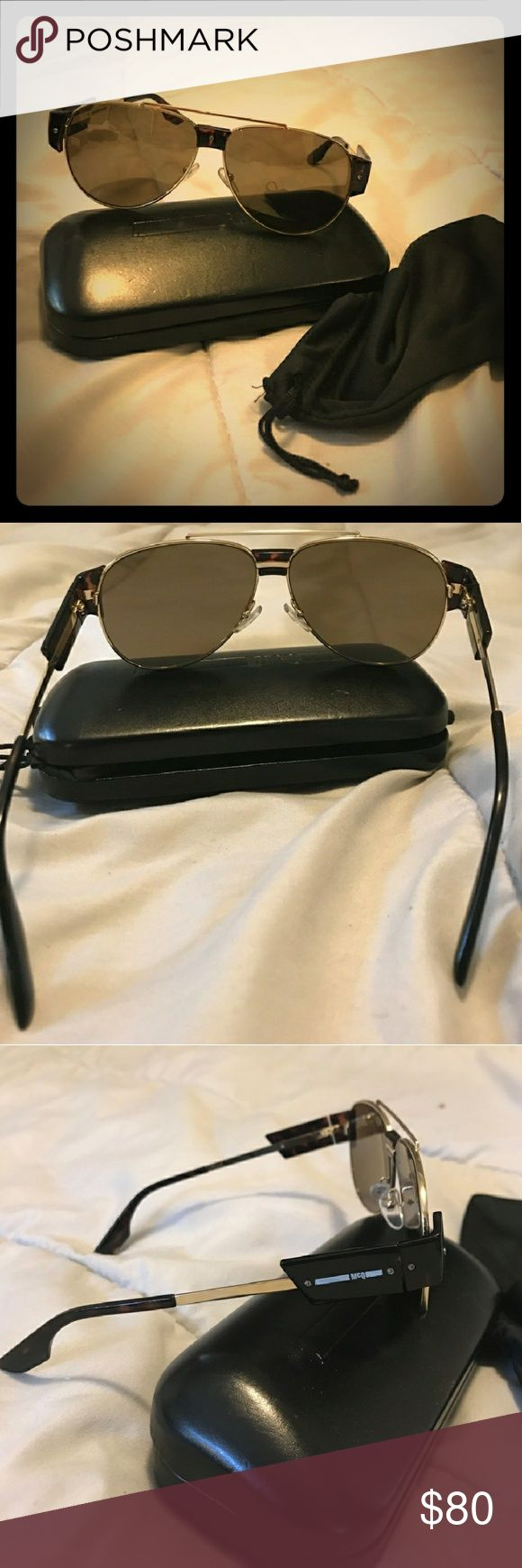 Alexander McQueen Sunglasses Comes With original case, and cloth. Very very minute scratches almost unnoticeable.  Price is negotiable. Open to trade for a watch. Alexander McQueen Accessories Sunglasses