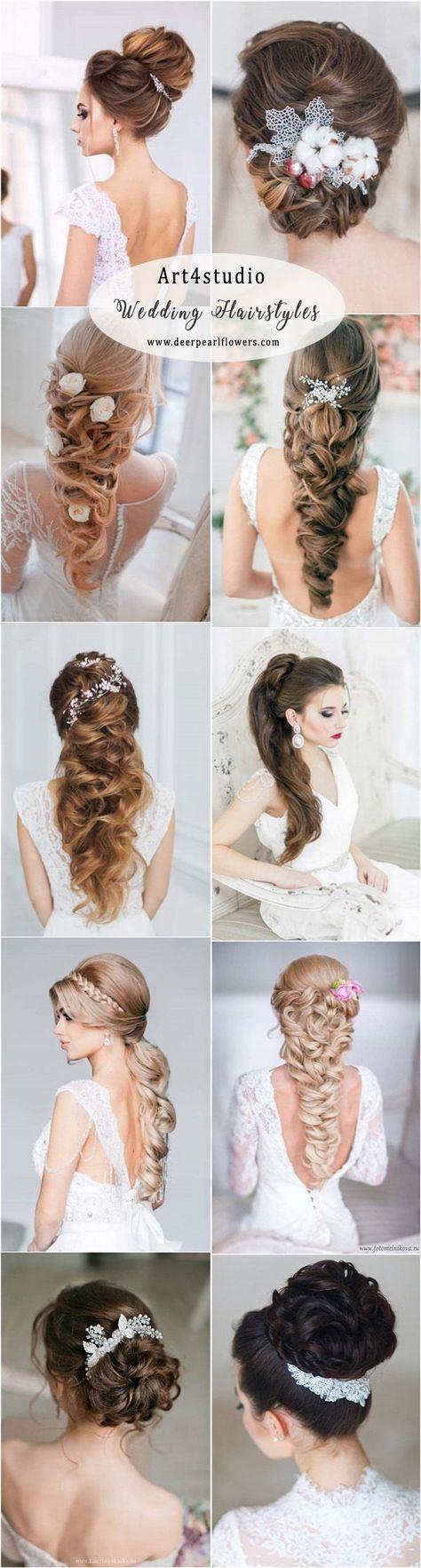 Art4studio long wedding hairstyles and wedding updos #WeddingHairstyles