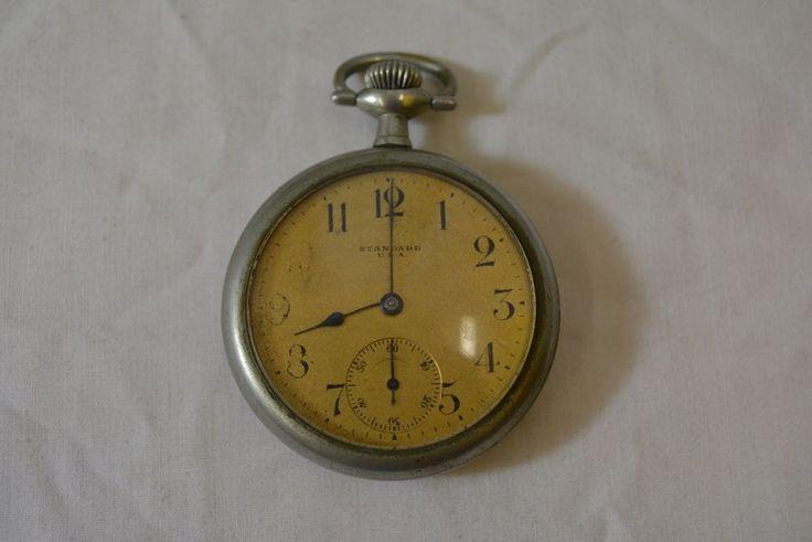 Standard USA Railroad Train Pocket Watch Philadelphia Watchcase Co Silverode #StandardUSA