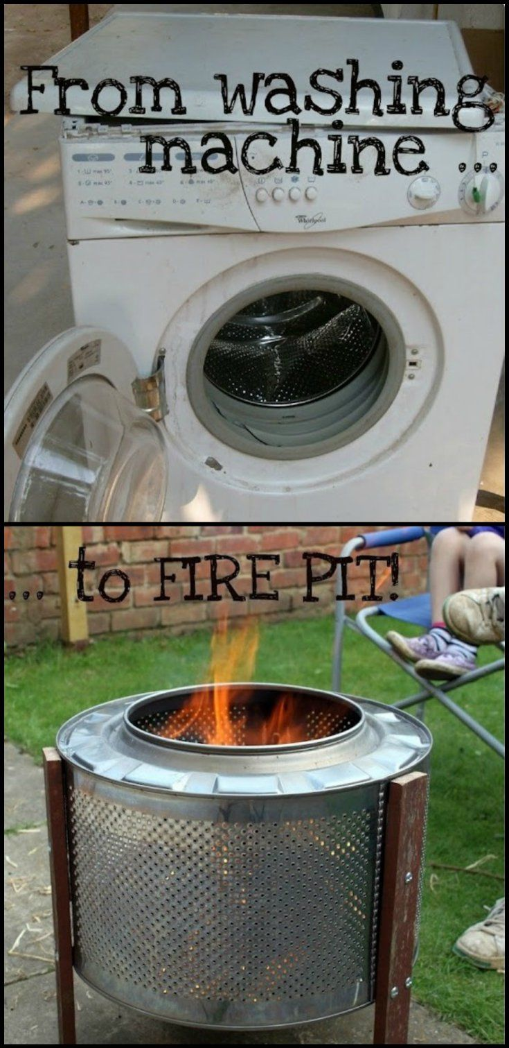 Looking for ideas on how to build a fire pit? This washing machine fire pit conversion might inspire you!  theownerbuilderne…