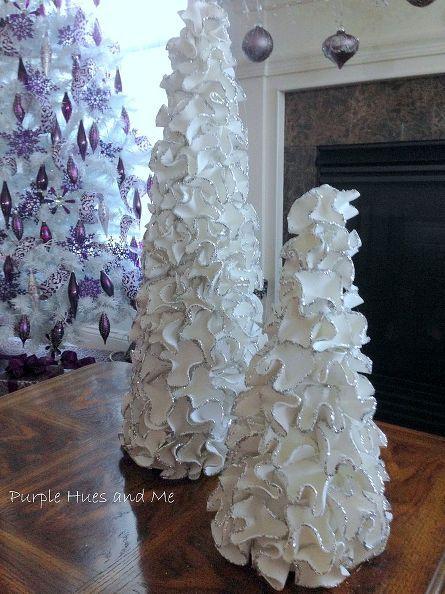 Ruffled Foam Sheets Amp Glitter Christmas Tree Cones Diy