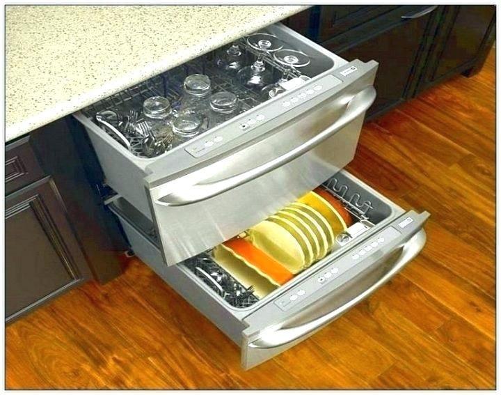Small Dishwasher Drawer Medium Image For Double Drawer Dishwasher