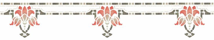 TULIP PENDANT Stencil. Suggested Paintstik® colorsand stencil brush sizesused in above sample follow dimensions. $42.00  Colors used in example: 8.25″ x 14″- Sandstone, 1/2″ brush; Black, 3/4″ brush;Alizarin Crimson, 1″ brush.