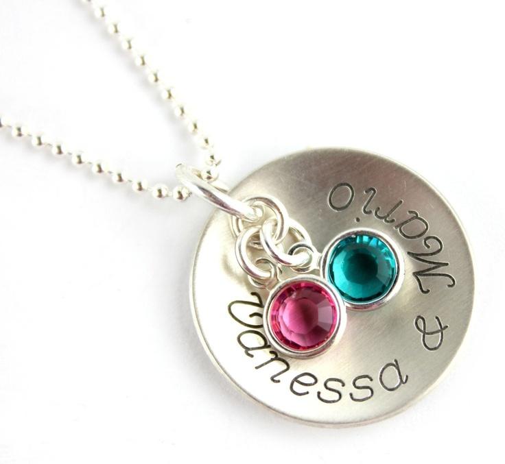 ♥ engraved necklace with swarovski pendants / gravierte Halsketten mit Swarovski Anhänger ♥