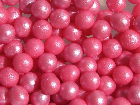 Edible fondant pearls 6mm 500 ORCHID PINK by Cakesupplies on Etsy, $25.99