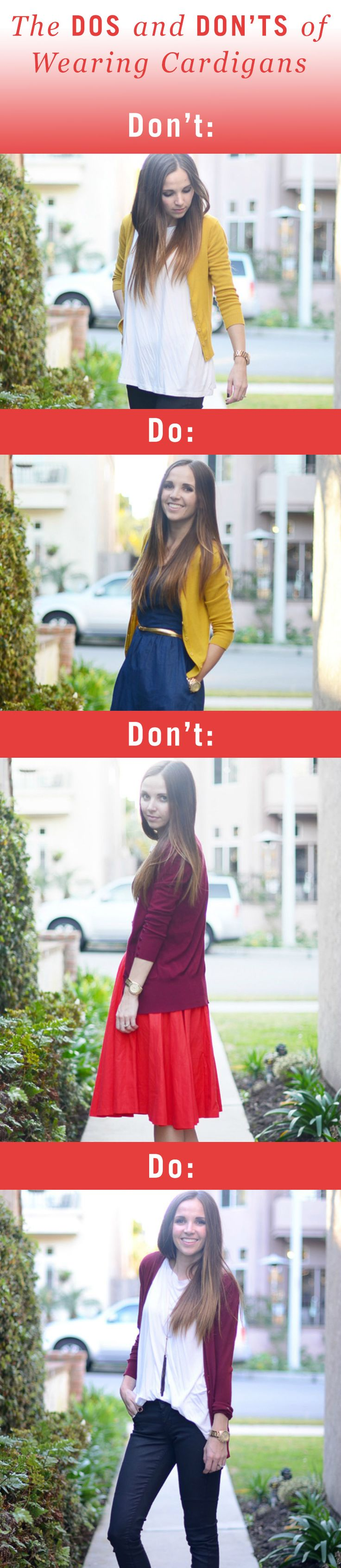 Do's and Don't of wearing a cardigan