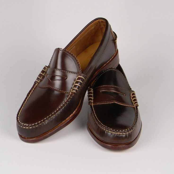 Rancourt & Co. shell cordovan beefroll penny loafers