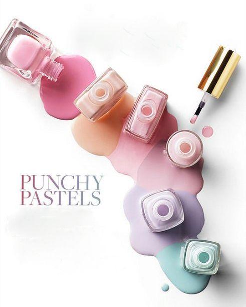 Pastels. Pastel nail polish. Spring trend 2014.