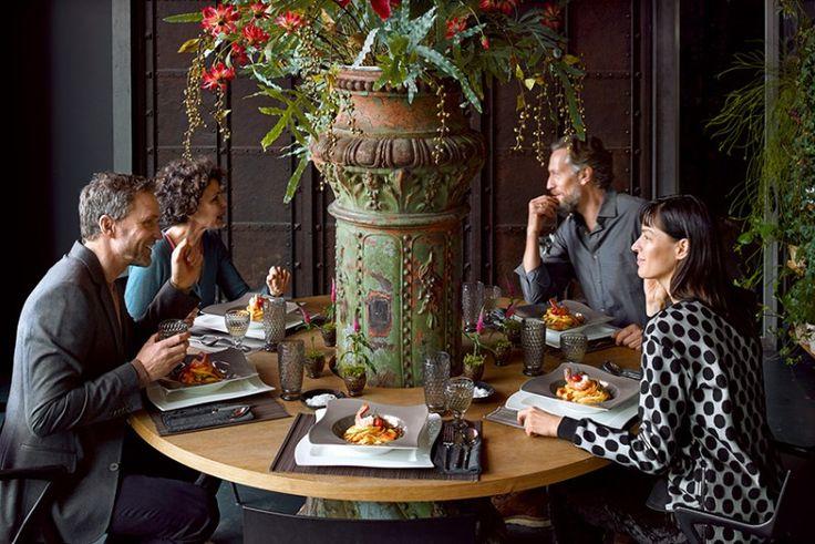 La popular colección Boston Coloured sorprende con un nuevo color: Boston Smoke #BostonColoured #BostonSmoke #gris #copas #vasos #cristal #mesa #NewWave #tableware #compartir