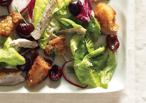 Butter Lettuce, Chicken, and Cherry Salad: Butter Lettuce, Lettuce Salad, Chicken Salad, Salad Recipes, Enjoy Your Meal, Food, Chicken Thighs, Cherries Salad, Lettuce Chicken