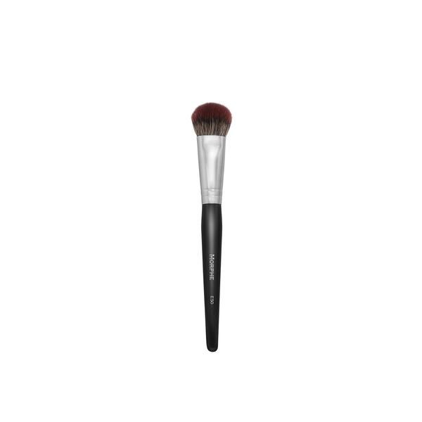 """This pinched, rounded brush has just the right amount of thickness to buff in cream contour and highlight products. Synthetic Bristles Dimensions: Bristles: 1""""Full Length: 7 1/4"""""""