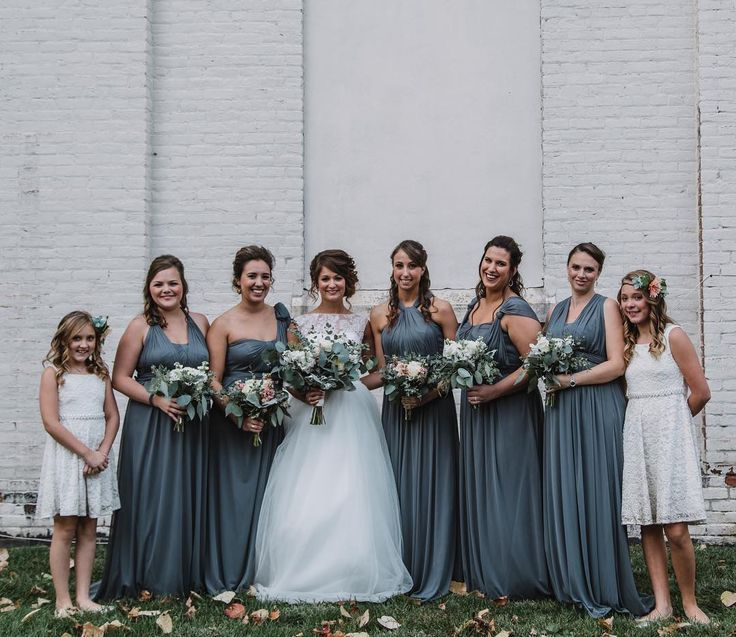 Image Result For Graphite Bridesmaid Dress Wedding