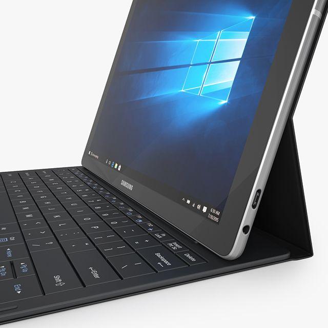 Samsung Galaxy Tabpro S With Keyboard Black Samsung Galaxy Galaxy Corporate Logo Design Inspiration