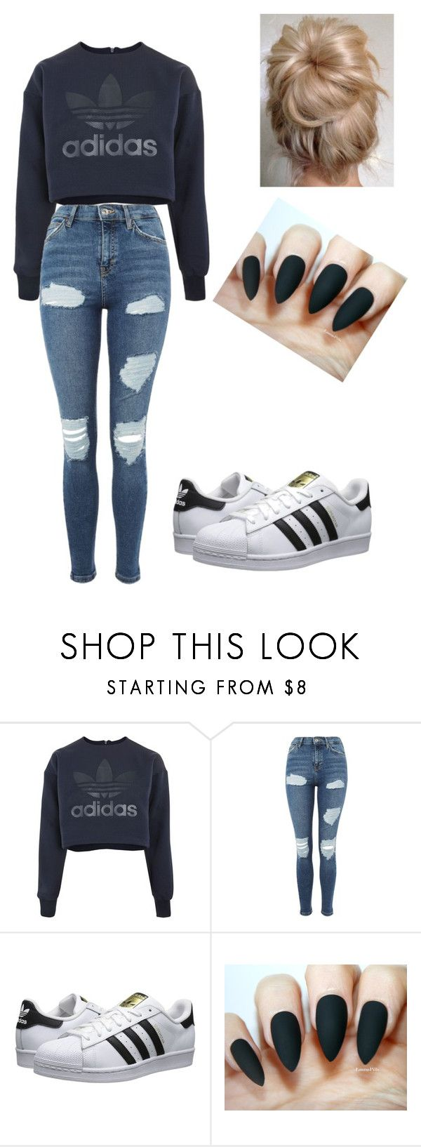 """""""Untitled #25"""" by weinsteini on Polyvore featuring adidas, Topshop and adidas Originals"""