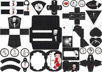 Betty Boop: Free Printable Kit.