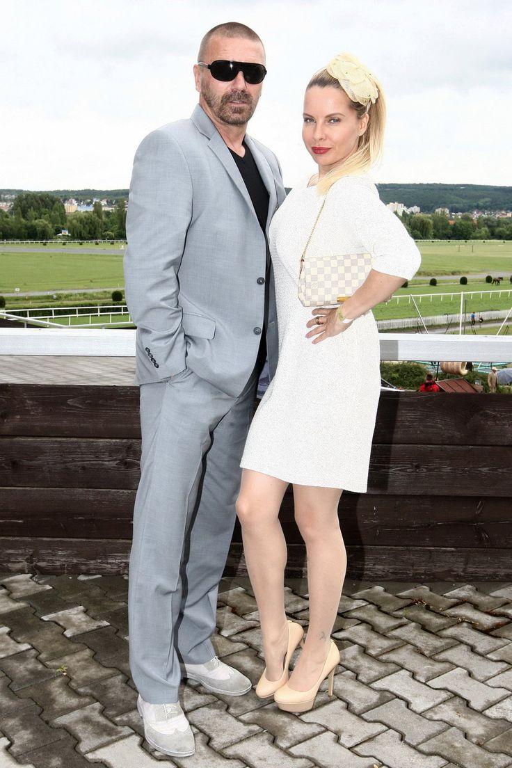 Kateřina Kristelová s Tomášem Řepkou na dostizích