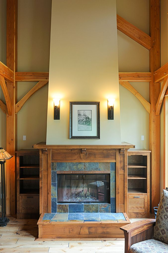 110 best Arts & Crafts FIREPLACES images on Pinterest | Craftsman ...