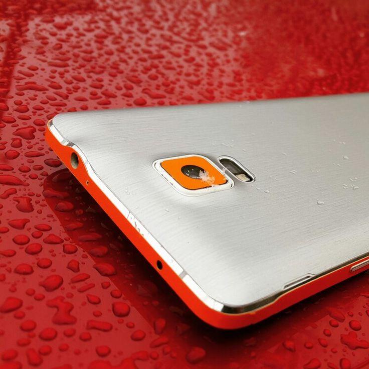 Folii Carbon 3M Matt Silver & Orange Samsung Note 4