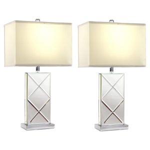 Mirror Table Lamp Set