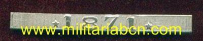 España. 1ª República. Pasador en Plata para la Medalla de Distinción de la Guerra de Cuba con la fecha 1871. - Militària BCN
