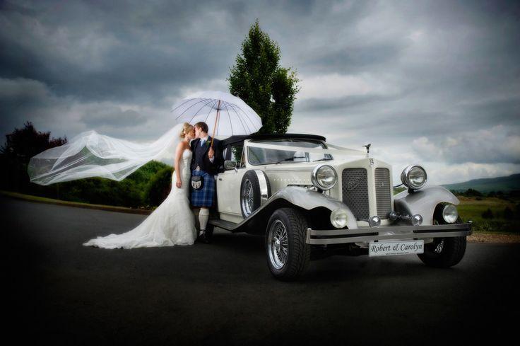 A Beauford wedding car www.goldchoiceweddingcars.co.uk Photo courtesy Tom Gibbon Photography