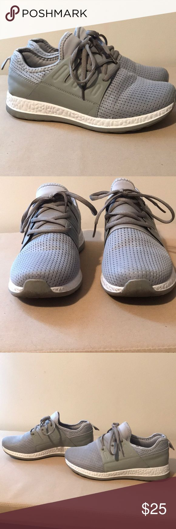 Gray Athletic Shoes Very cute and comfortable shoes! Were worn a few times so some wear and scuffs are present but not entirely noticeable. Otherwise in great condition. They go great with leggings and skinny jeans. Shoes Athletic Shoes