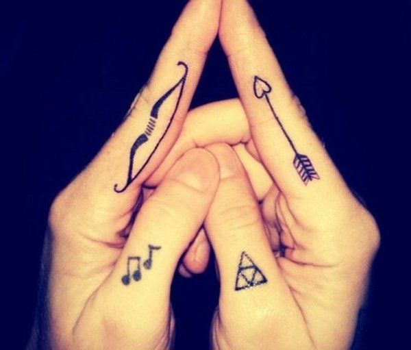 Bow and Arrow Matching Tattoos - 70+ Lovely Matching Tattoos  <3 !