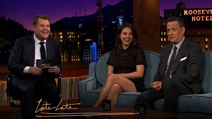 """What's it like being a parent? """"It's like being caffeine-deprived for 18 years."""" Tom Hanks and Mila Kunis visit new The Late Late Show host James Corden to talk about babies, parenting, and some other things parents do. Bundoo 