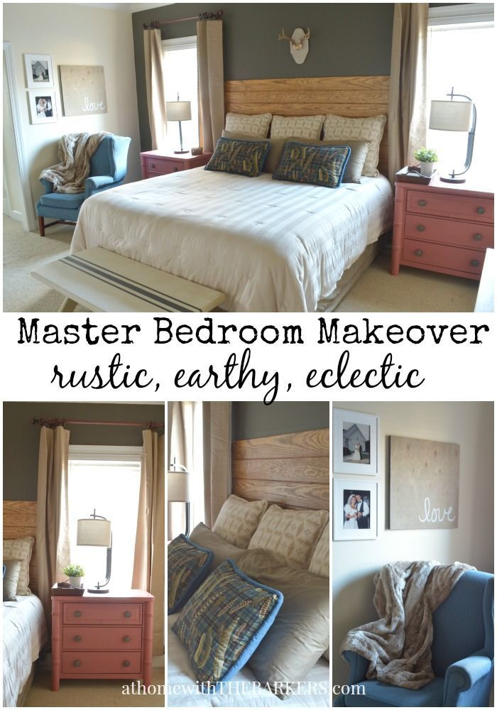 Rustic Earthy And Eclectic Master Bedroom Makeover Diy Bedroom