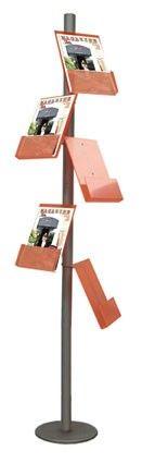 Dna brochure holder, made of metal and plexiglas.