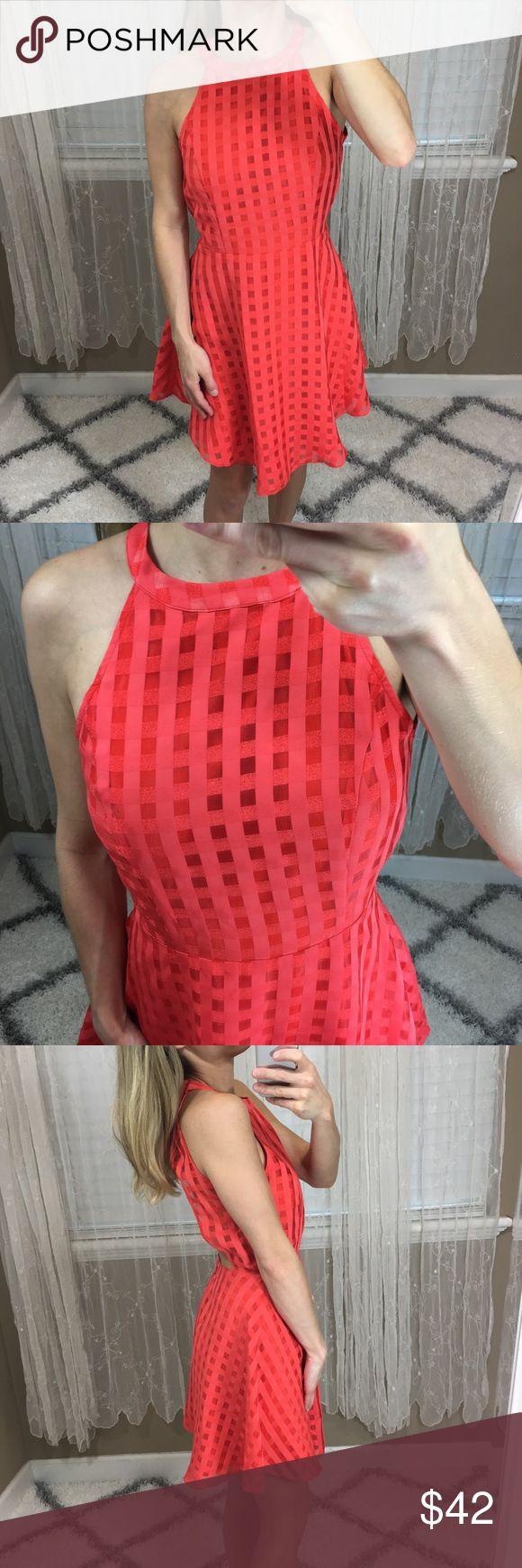 (Lovers+Friends) Orange Mini Dress - Size M Lovers and friends orange mini dress - size Medium. Excellent condition.  Buttons around neck. No trades  -- BIN G  #loversandfriends #orange #minidress Lovers + Friends Dresses Mini