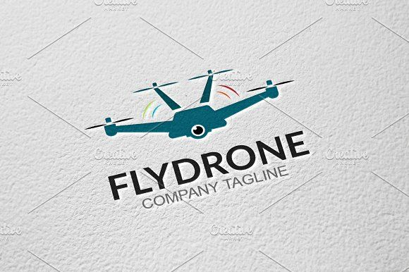 Fly Drone by GoldenCreative on @creativemarket