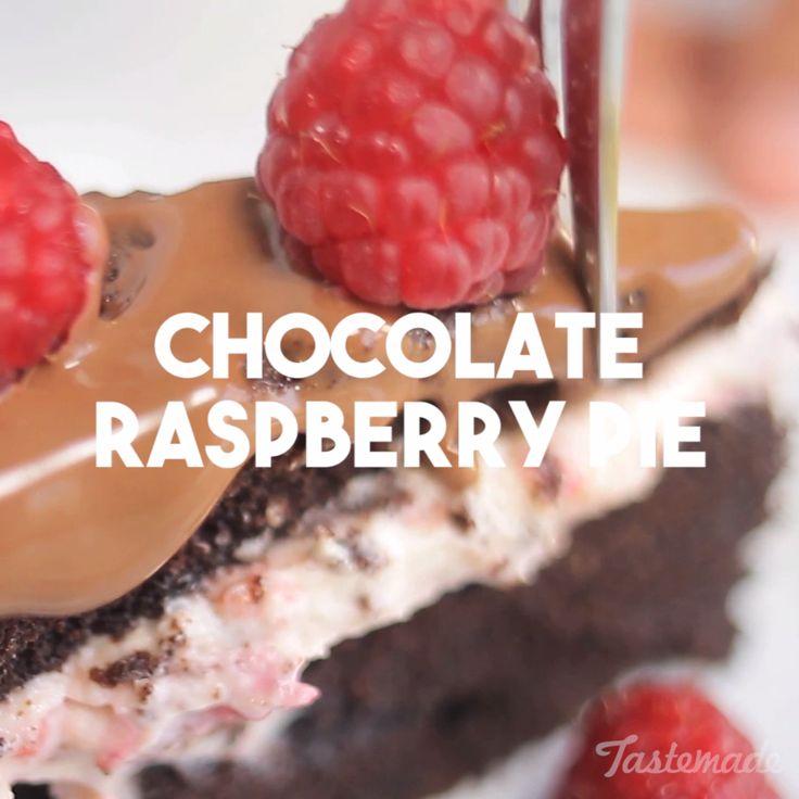 Chocolate Raspberry Pie recipe                                                                                                                                                                                 More