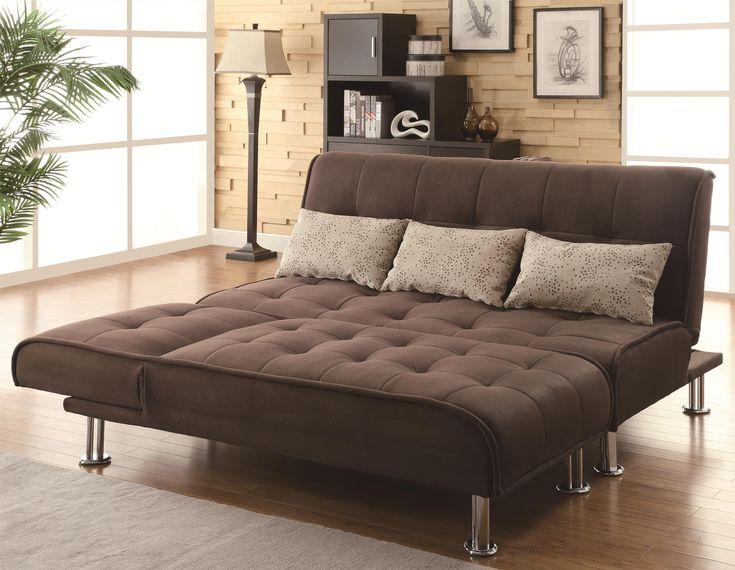coaster styled sleeper sofa and chaise in brown