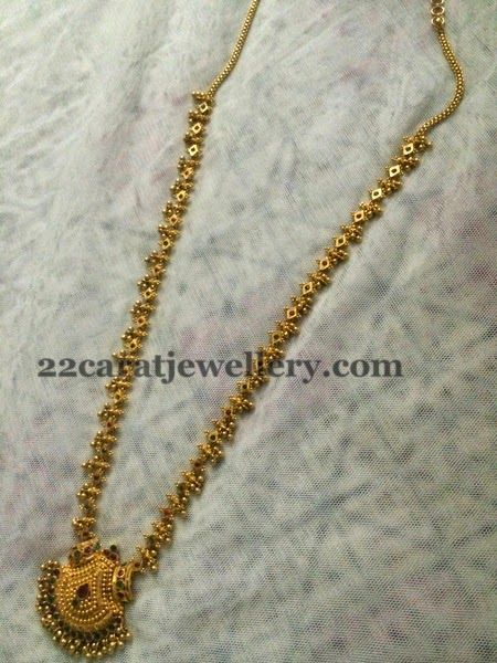 Muvvala Haram in 34 gms Only - Jewellery Designs