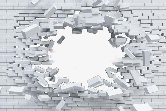 Blasted Brick Wall