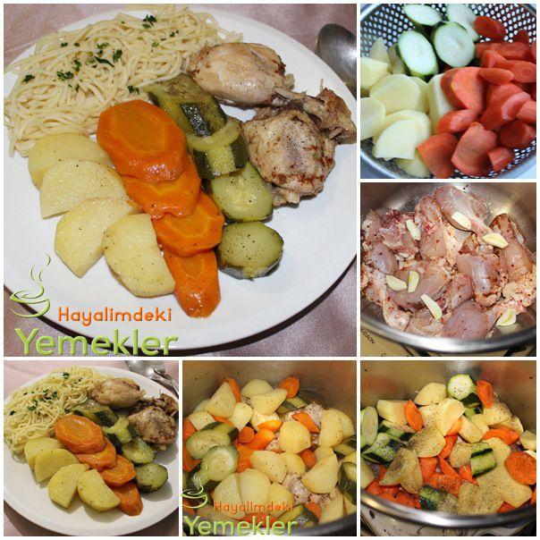 Diyet Yemekleri  Sebze ve Tavuk ( Düdüklüde )
