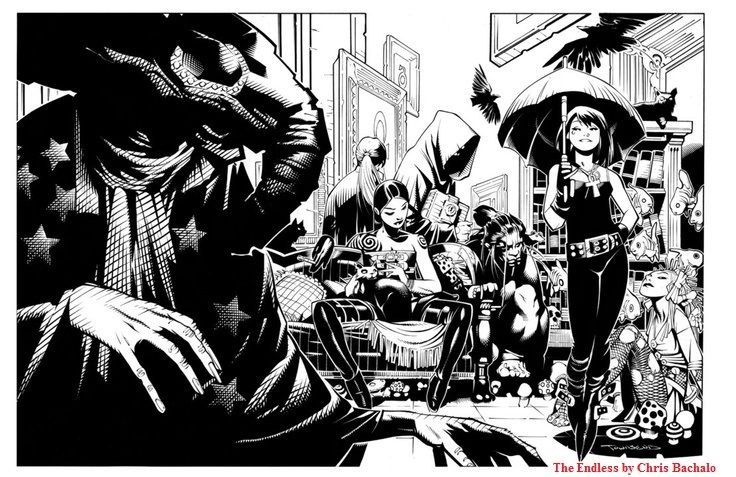 The Endless by Chris Bachalo - Visit: http://angelakamcomicart.wordpress.com/