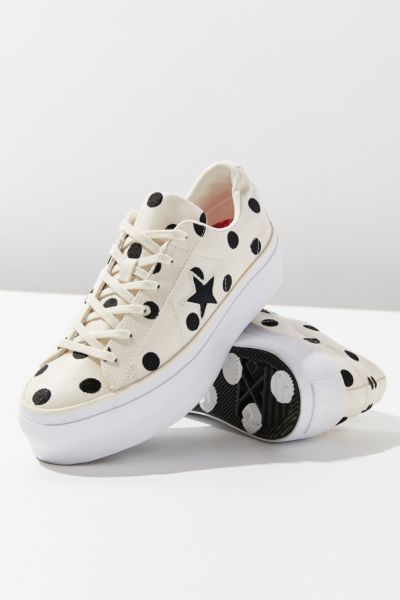 5cb36559ff1 Shop Converse One Star Polka Dot Platform Sneaker at Urban Outfitters  today. We carry all the latest styles