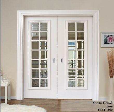 Indoor Life - Armonia / Karan camlı / Lake şeffaf ve bizoteli camlı, çift kanat duvar içine sürgülü