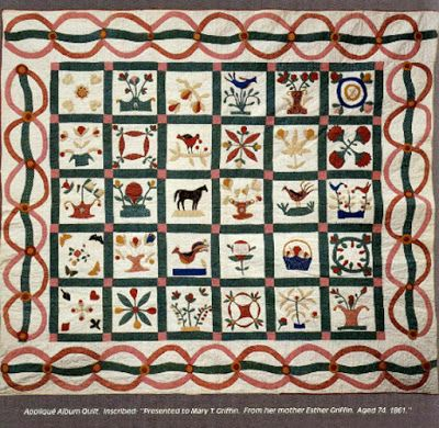 Civil War Quilts: 1861, Esther Griffin for her daughter Mary
