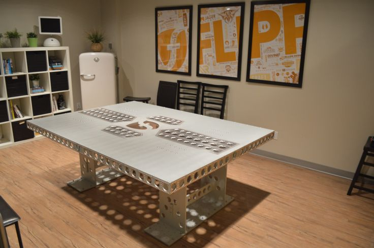 The Boardroom Empire  Industrial table designed by Knuckles Industries.