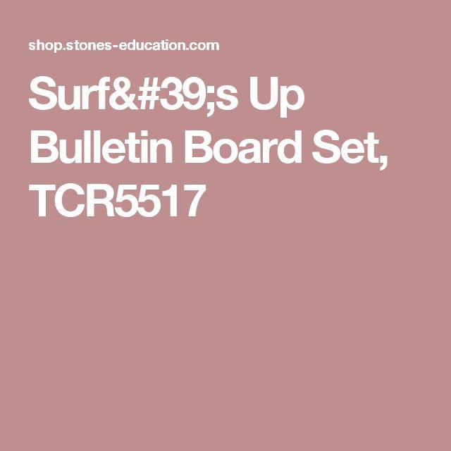 Surf's Up Bulletin Board Set, TCR5517