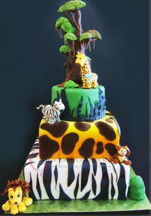How to make a safari themed cake
