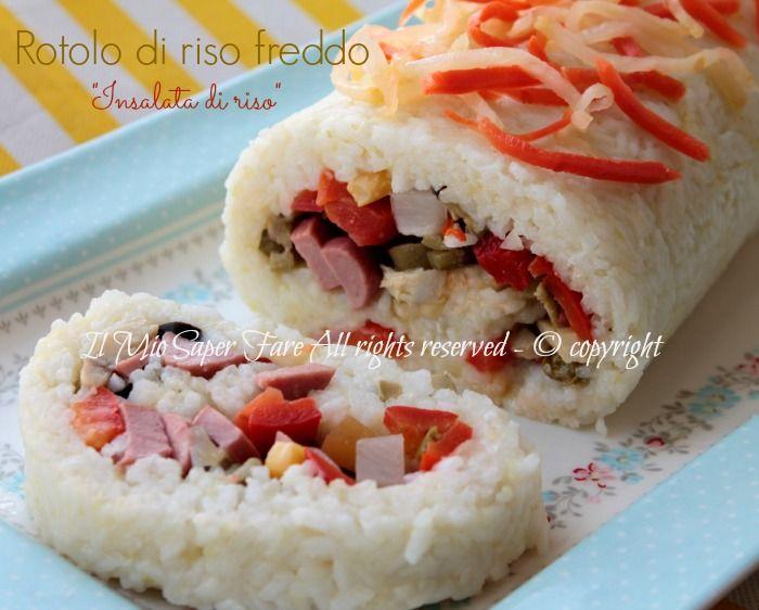 Rotolo di riso freddo insalata di riso  Mi sembra una bellissima idea